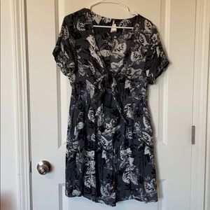 Free People Gray Floral Dress